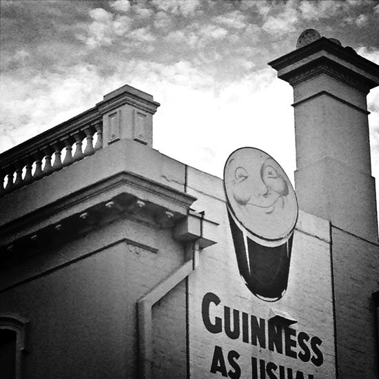 Advertising beer from the chimney ....