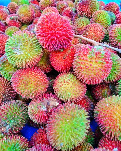 "Local fruit called ""Pulasan"" found at the farmer's market in Tanjung Malim Perak a taste of sweetness and sometimes a bit of sourness Tanjung Malim Perak, Malaysia Cheap Fruit Malaysian Food Local Market Farmers Market Street Market Heatlhy Local Fruit Asian Fruit Sweet Healthy Food Organic Full Frame Red Multi Colored Close-up Plant Market Stall Stall Market For Sale Spiked"