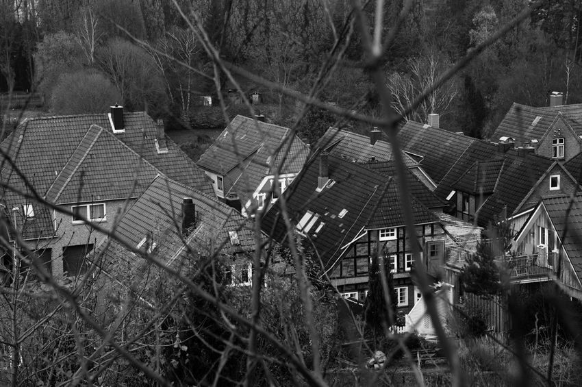 Small City Above The Roofs No People Day Outdoors View From Above StillLifePhotography Blackandwhite Photography Black And White Photography Eyeemphotography Moment Photography Moments Of Life Black & White Built Structure Buildings & Sky Old Buildings Old Architecture Old City