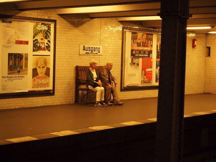 Berlin Senioren Underground Station  Berlin Indoors  Full Length Men Built Structure City People Two People
