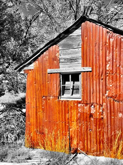 """""""Red Armor"""" An old building protected over the years by red corrugated metal. Corrugated Metal Red Metal Old Buildings Sheds Rural Scenes Rural America RuralTreasures  Ruralphotography RuralExploration"""