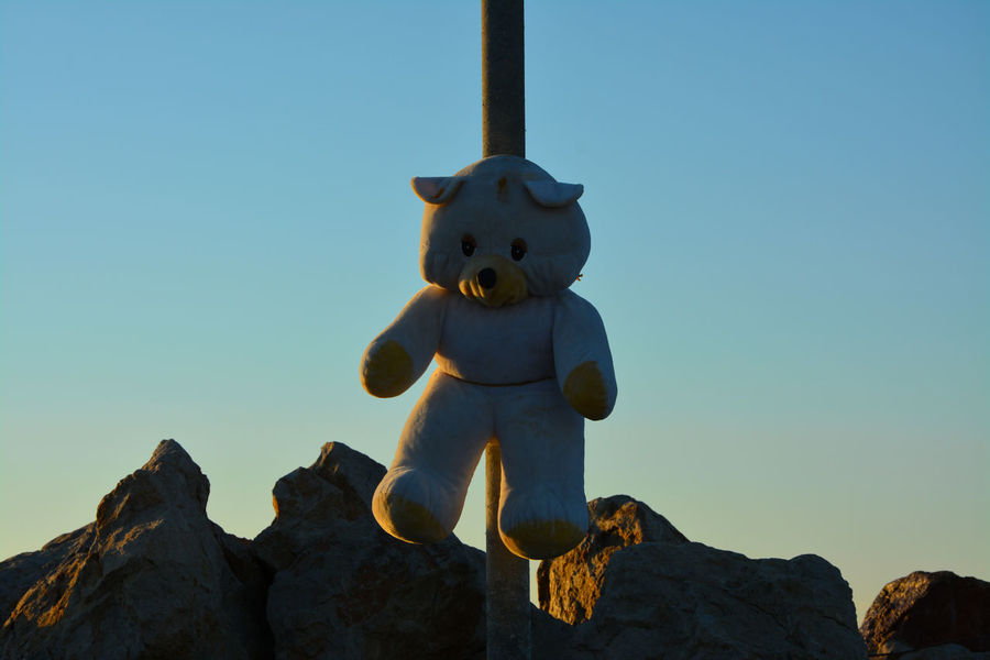 Blue Sky Hanging Out Nature_collection Rocks Sky_collection Teddybear Toyphotography White Color