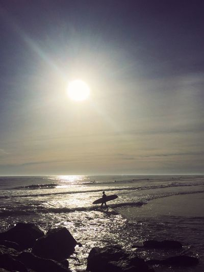 Great View! Taking Some Time To Think About 2016; While Making a #Gopro Time-lapse. Check This Out Hello World Gopro Surf Beach Beachphotography IPhoneography Enjoying Life NYC Seeing The Sights Sunset Colors EyeEm Best Shots Relaxing EyeEmBestPics