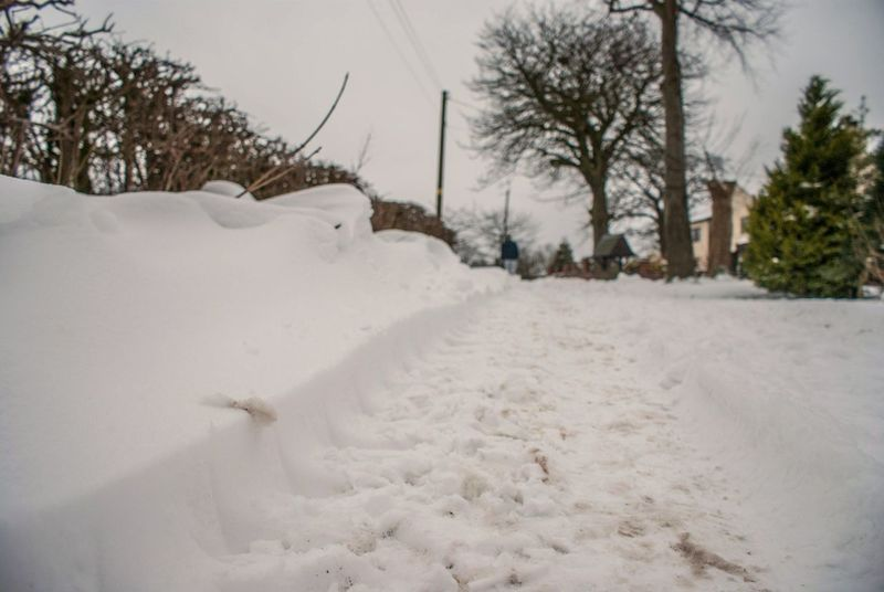 Snow Cold Cold Temperature Day Field Outdoors Snow Snow Day Snow ❄ Snowing Snowy Town Track Tracks Tranquility Tyre Weather White Winter