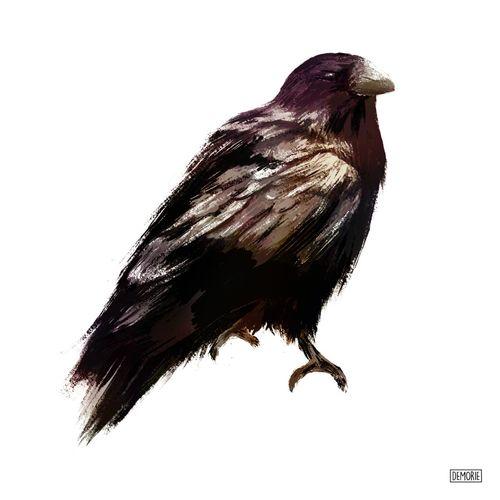 Raven - Brown Drawing Painting Art ArtWork Raven - Bird Raven Animal Digital Art Illustration Digital Painting Sketch Drawing Sketching No People White Background Full Length Close-up