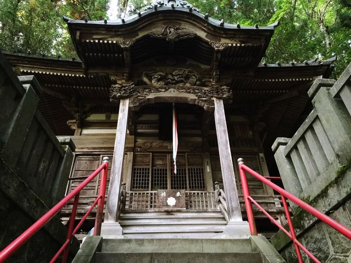 Low angle view of old buddhist temple
