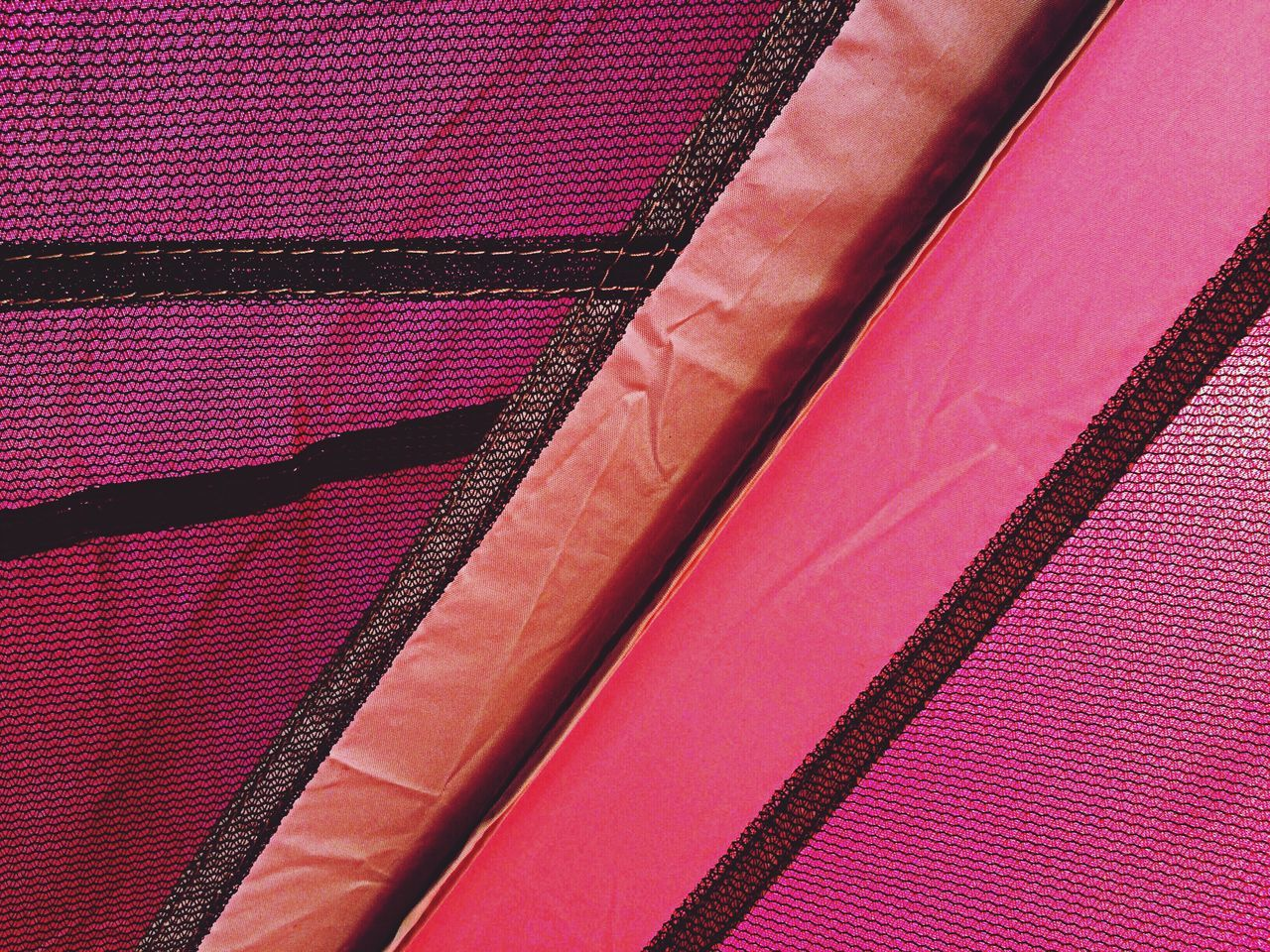 Close up of pink textile