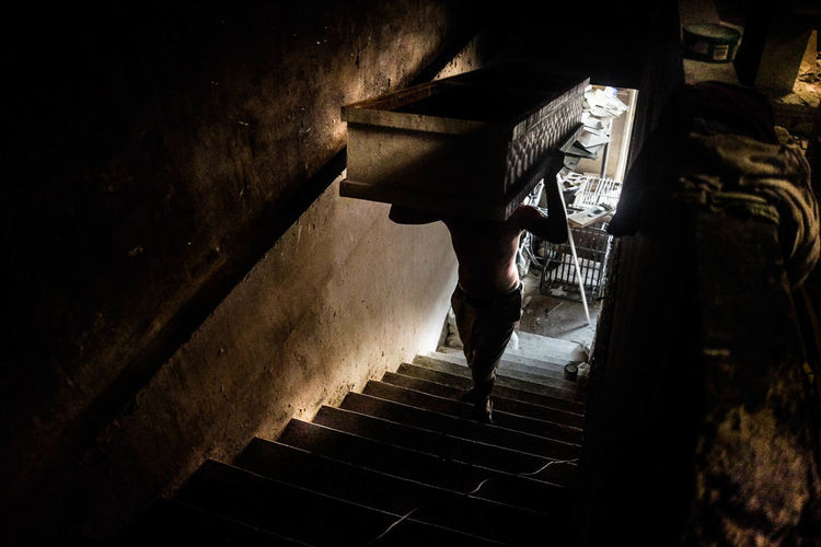 Fujifilmx100s Indoors  One Person People Real People Staircase Steps Steps And Staircases Streetsofmanila The Street Photographer - 2017 EyeEm Awards