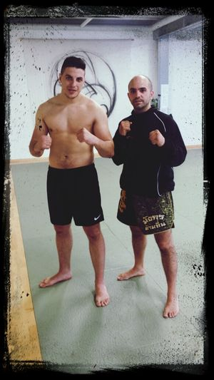 Kick Boxing After Training Whit My Trainer Dragoncombatgym