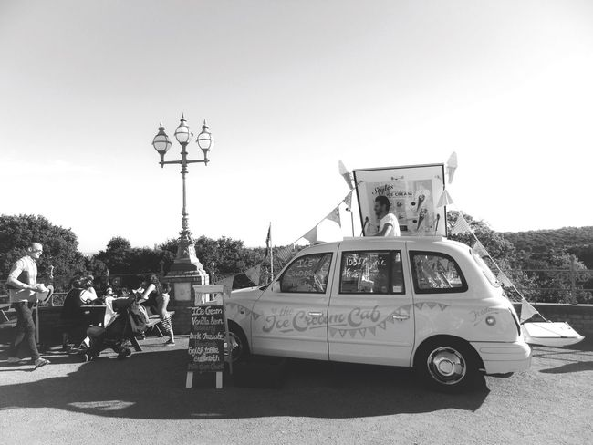 Ice creams... Ice Cream Palace Art LONDON❤ London Car Alexandra Palace Vehicle Outdoors People Clear Sky Stationary Sunny Photographer Photo Summer Londonlife Photooftheday Photoshoot