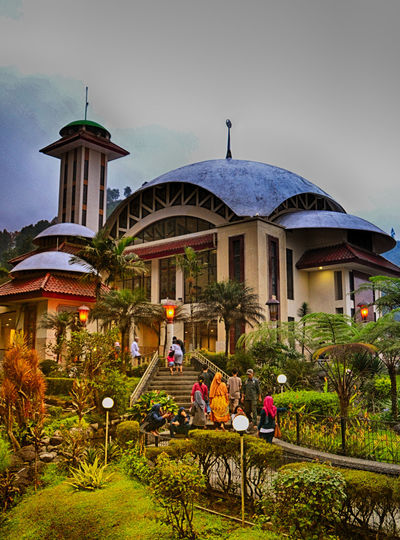 Attawun Mosque - icon of puncak Bogor Indonesia Travel Photography
