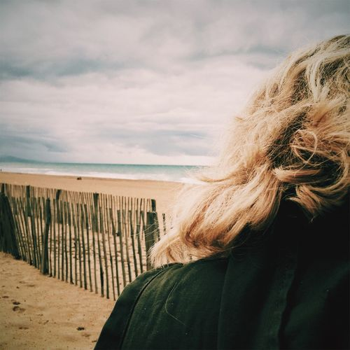 Sea Water Women Blond Hair Nature Anglet France