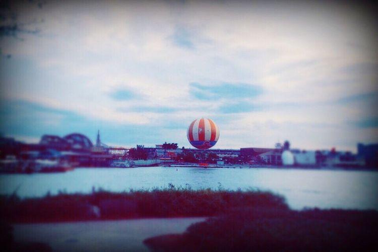 Beautiful view in the Disney Boardwalk Cloud - Sky Blue