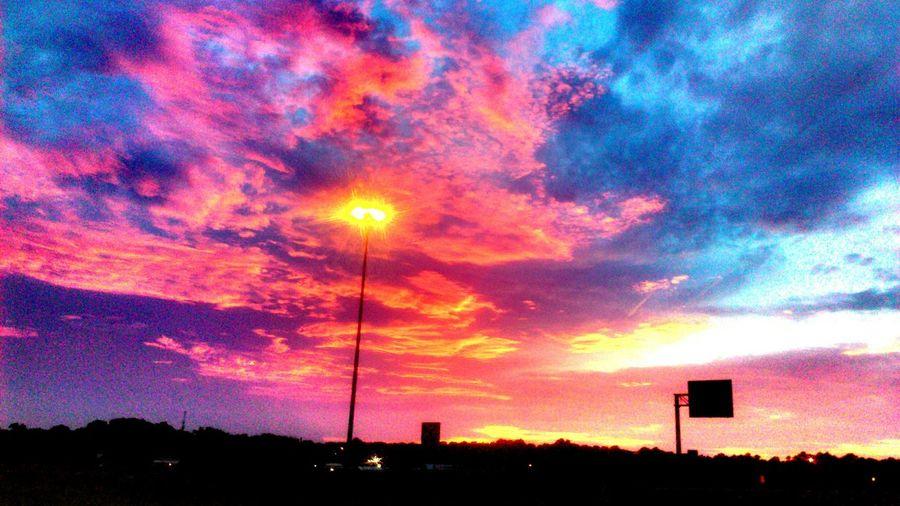 Sunset Beautiful Sky Longview, Tx Loop 281 & Hwy 80