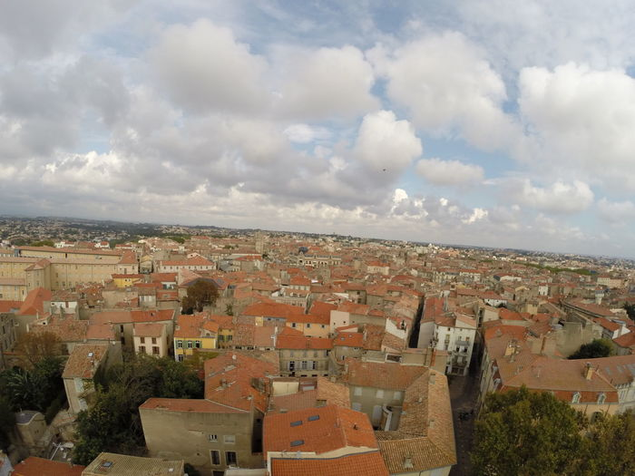 View of Beziers from top of vhurch Buildings & Sky Béziers Cityscape Cloud Houses Sky