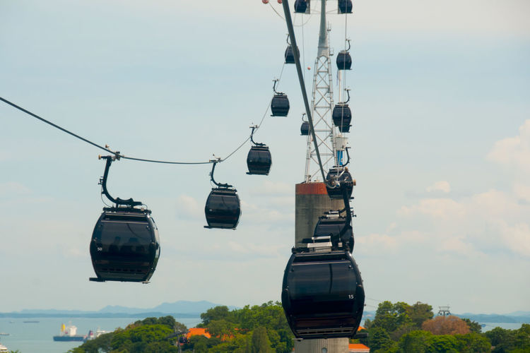 Cable Cars in Sentosa Singapore City Cable Car Sentosa Island