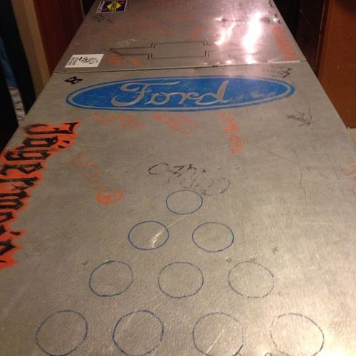 The pong table that broke. SeniorWeek AkaaWall Chairs Table