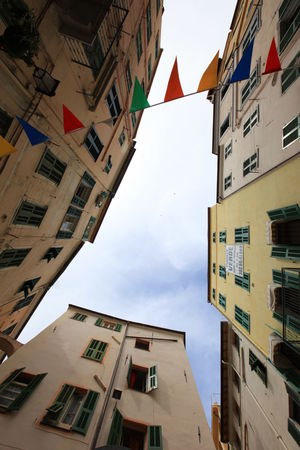 San Remo, Italy San Remo Architecture Building Exterior Built Structure City Day Flag Italy Low Angle View No People Outdoors Residential Building Sky Window