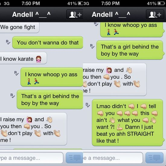 Ahha man I love my conversations with my best friend Andell Latouche ! He always makes my day (: