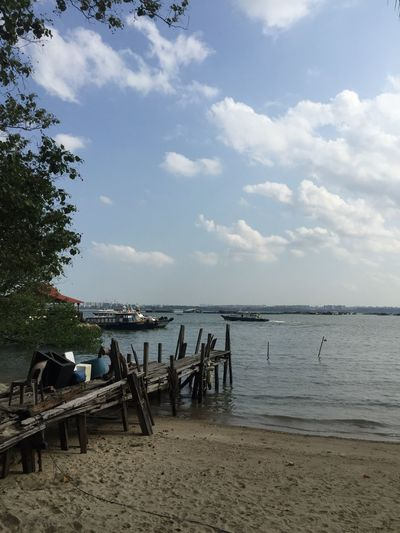 Ubin Pulau Singapore Water Wood Sun