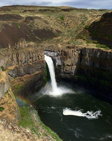 Palouse Falls Waterfall PNW Nature Rainbow