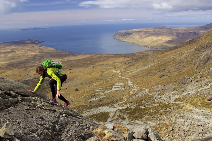 Scotland Trail Running Adventure Beauty In Nature Climbing Cloud - Sky Day Full Length Healthy Lifestyle Hiking Isle Of Skye Landscape Leisure Activity Lifestyles Mountain Mountain Range Mountaineering Landscape Nature One Person Outdoor Photography Outdoors People Real People Rock - Object Scenics Sky Sport Sports Clothing Young Adult