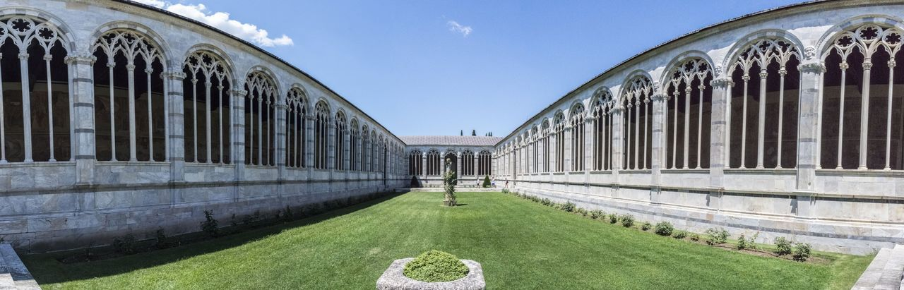 View of camposanto in pisa against sky