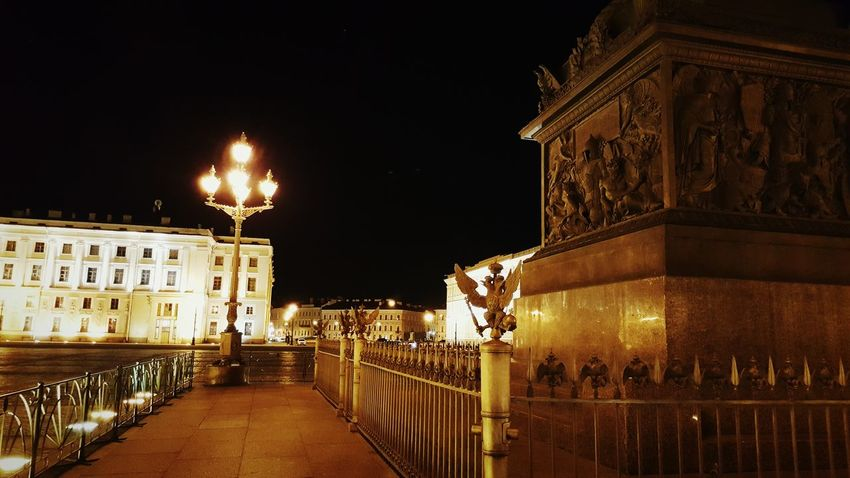 Night Architecture Illuminated Travel Destinations Built Structure Building Exterior Outdoors No People Hermitage, St. Petersburg St. Petersburg St. Petersburg, Russia Russia Nightphotography Night Photography History Architecture Architectural Column Palace Square Alexander Column