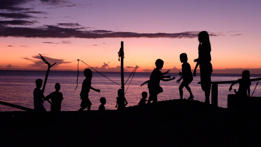 I want to be a child again Playing Tag Outdoor Photography Outdoor Playtime Playtime Children Playing Childhood Fujifilm X-t20 Reminisce Sunset Silhouettes Philippines Leytephilippines Beach Boys Full Length Standing Sea Children