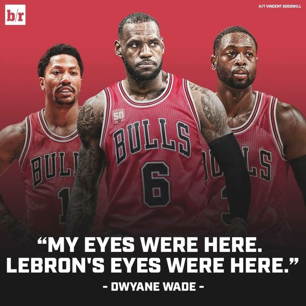 Bron and Wade could have joined the Bulls in 2010. Imagine this?! 👀