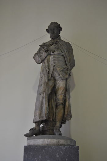 Low angle view of statue