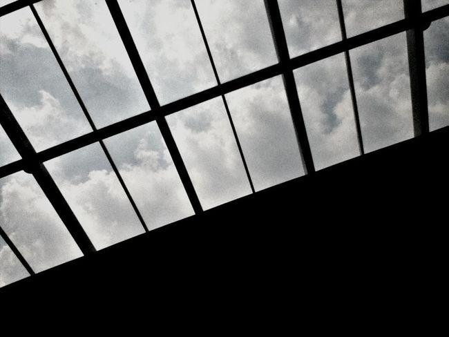 Clouds Sky Sunroof Lookingup