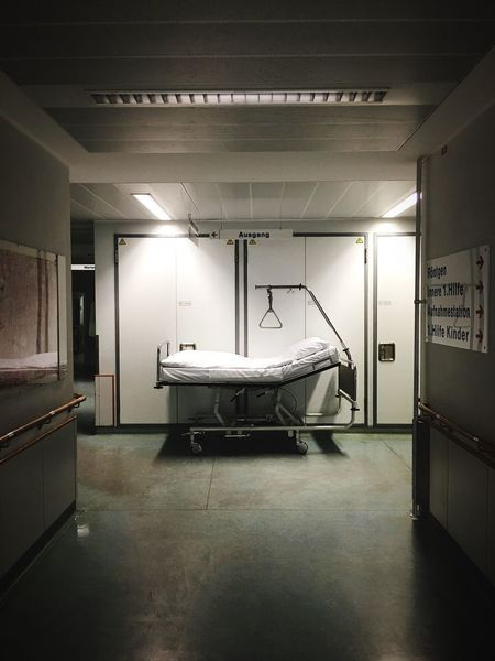 Bed Hospital Bed Hallway Hospital