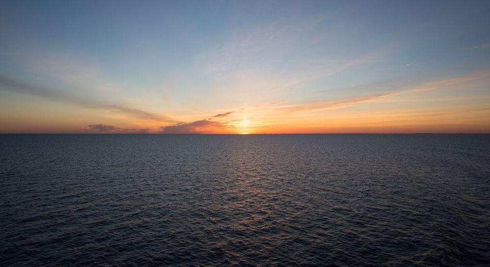 Sunset from ship. Sunset Sea Scenics Tranquility Horizon Over Water Water Nature Sky No People Outdoors Ocean Östersjön Gotland, Sweden Nikon Nikonphotography Nikond600 Tamron Tamron2470