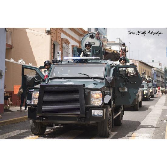 Transportation Day Desfile Policias Fuerza Civil Xalapa Xalapa De Enríquez Xalapa Mexico