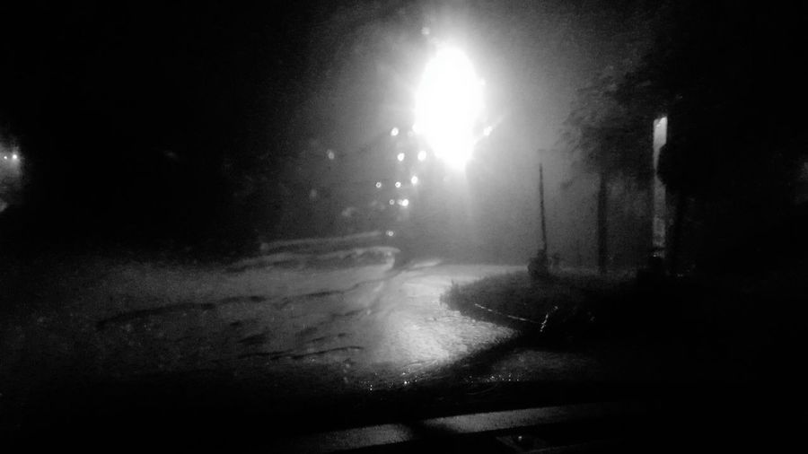 Down Pour Summer Rain Night Driving