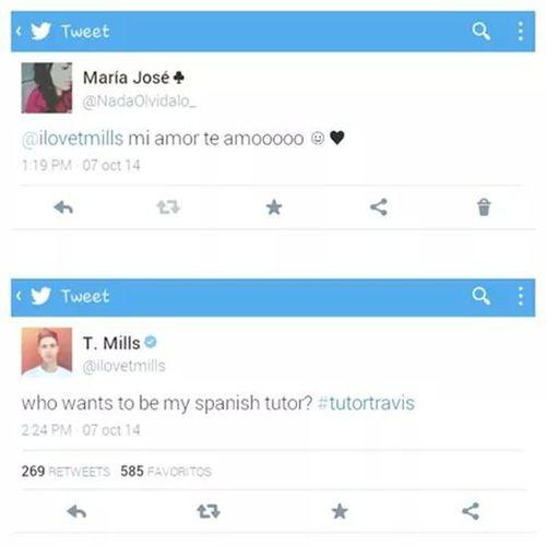 Coincidencia Twitter T. Mills