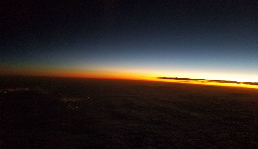 Sky Only No Edit/no Filter An Eye For Travel Horizon Above Above The Clouds In The Air Tranquility Scenic Sunset Scenics EyeEmNewHere Inflight Horizon No Filter Natural Light Natural Beauty Sky Scenics Landscape Night Outdoors Nature No People Beauty In Nature Sky Sunset Tranquil Scene Visual Creativity The Great Outdoors - 2018 EyeEm Awards The Traveler - 2018 EyeEm Awards