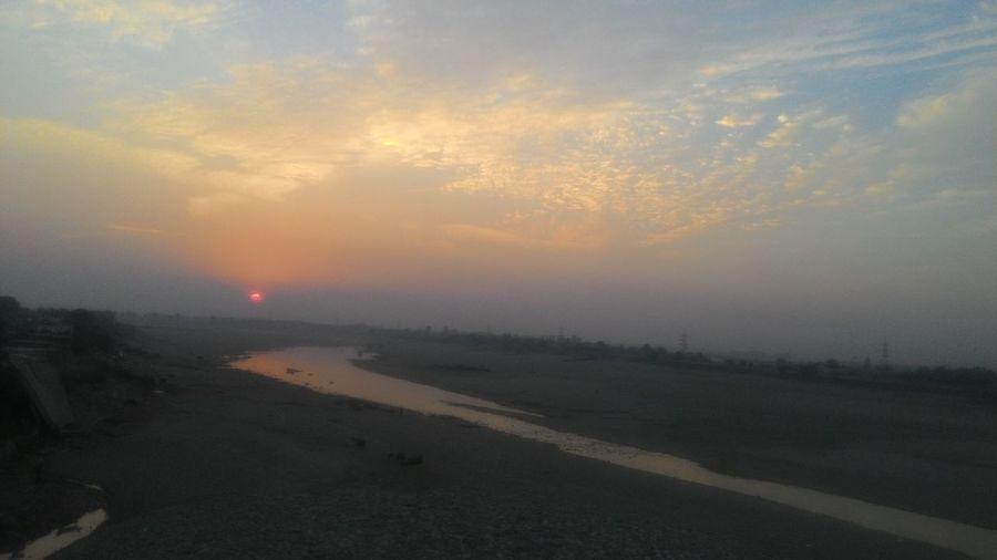 Sunset at River Tawi Enjoying Life
