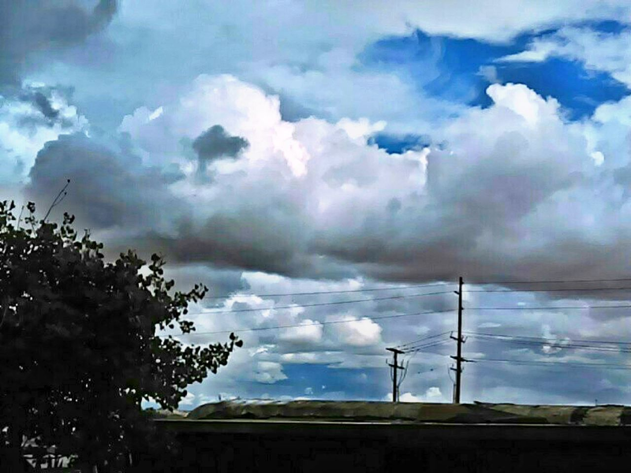 cloud - sky, sky, no people, day, low angle view, nature, outdoors, tree, beauty in nature, scenics, technology