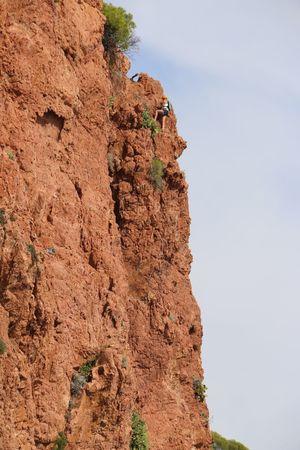 Climbing A Mountain Extreme Sports Climber Climbing Wall Saint Raphael Climb Climbers Holiday Dramont Cap Du Dramont