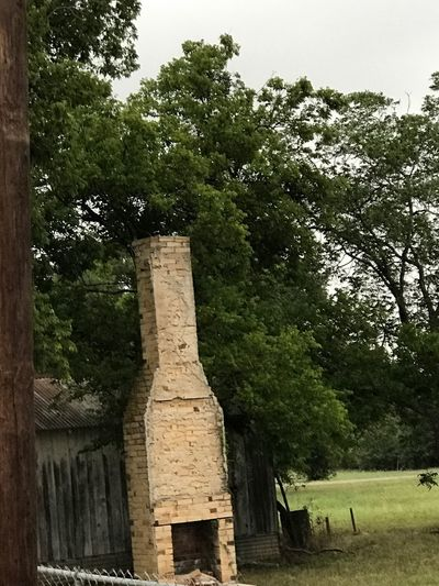 Tree Built Structure Architecture Outdoors Sky No People Old Brickwork Is Amazing... old chimney still standing . Canute the memories of another day , another era , another life .
