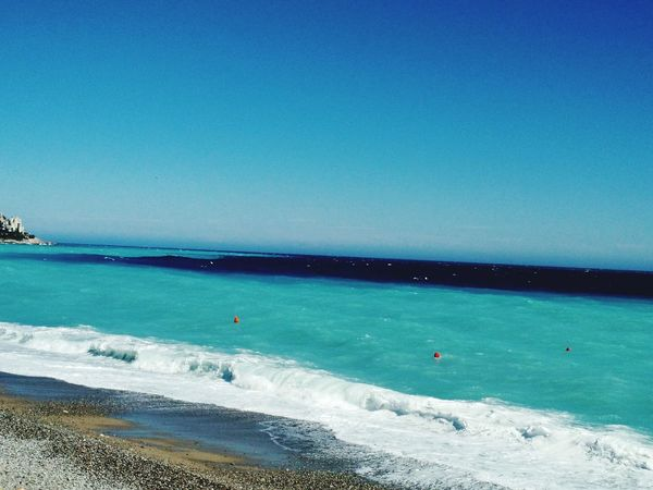 Sea Blue Beach Water Horizon Over Water Scenics Beauty In Nature Sky Nature Outdoors Adventure Sand Vacations Day Wave People Blue Sea Nice, France Nizza Francia Côte D'Azur Sea Foam On The Beach Sea And Sky Beauty In Nature Sea Foam Green Wave Tranquility Nature
