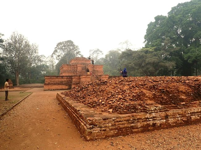 Edge Of The World Culture Batanghari River Malay Historical Monuments Jambi INDONESIA Buddhist Temple Tang Dynasty Discovering Great Works a historical temple excavation site at Jambi, Indonesia. This buddhist culture aged back to 7 A.D.
