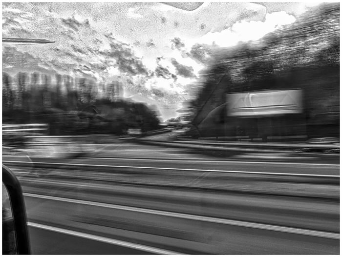 on the road Blurred Motion Car Car Window Driving Fast Fast Motion Fast Moving Cars Highway Motion On The Road Reflection Road Street