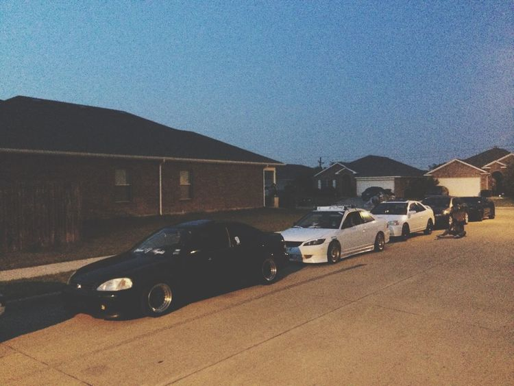 Homie line up! Em2  Civic EJ8 Slammed