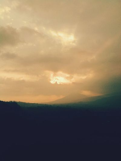 astonishing the sunset from the top of the hill in bandung