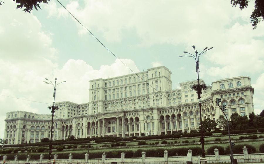 Architecture Architecture Bluesky Bucharest Building Built Structure City Cloud Cloud - Sky Cloudy No People Outdoors Palace Parlament Politics Romania Romanian  Sky Travel Destinations View