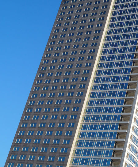 Architecture Blue Building Exterior Built Structure Close-up Day Low Angle View Modern No People Outdoors Solar Energy The Graphic City