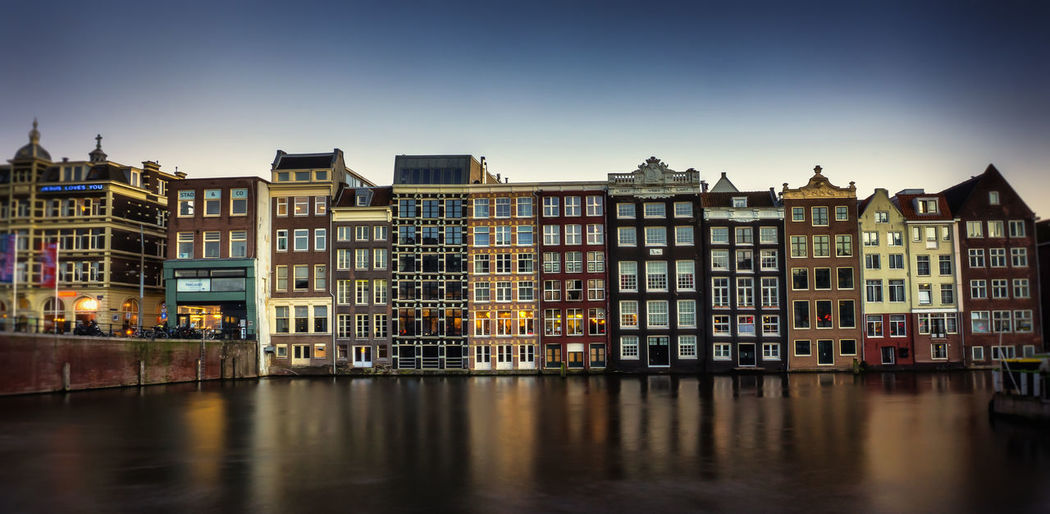 --Damrak 2-- Amsterdam Architecture Building Canal City City Life Long Exposure Sunset Sunset_collection Urban Your Amsterdam